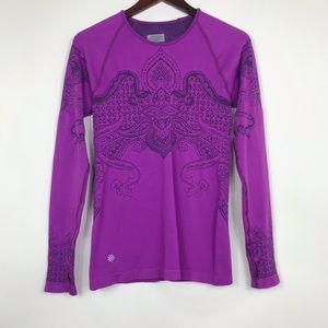 Athleta Size Medium Shirt Purple Long Sleeve